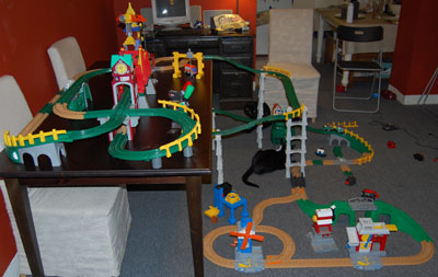 Geotrax taking over the living room!