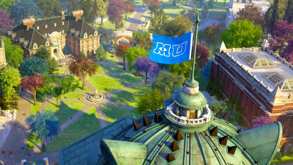 The Monsters University campus. ©2013 Disney•Pixar. All Rights Reserved.