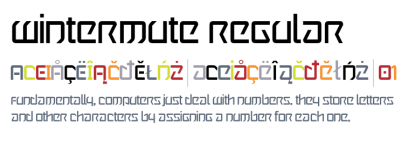 "Today Only:  Get the Cyber Punk Inspired ""Wintermute"" Font for FREE!"