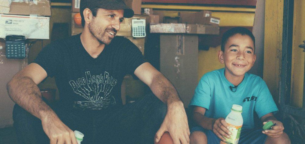 Caine and filmmaker Nirvan