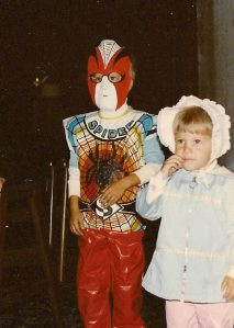 One of my Halloween costumes from the early 80's as your friendly neighborhood SPIDER (boy).