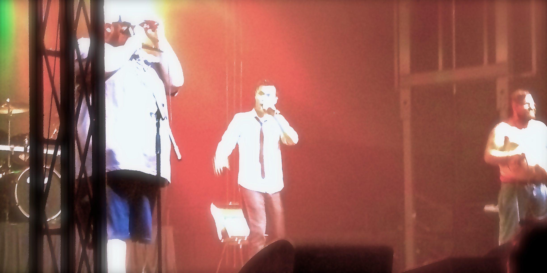 Beefy, Adam WarRock and Jesse Dangerously perform