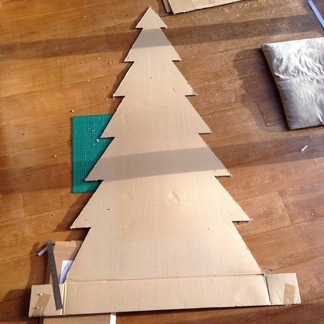 make your own cardboard tree geekdad
