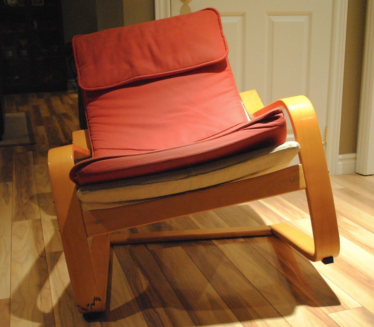 Ikea Poang chair that snapped