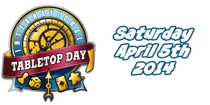 Just Announced: International TableTop Day Returns on April 5th