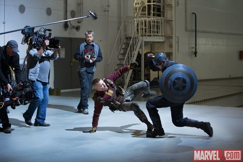 Captain America v Georges Batroc from the upcoming film.