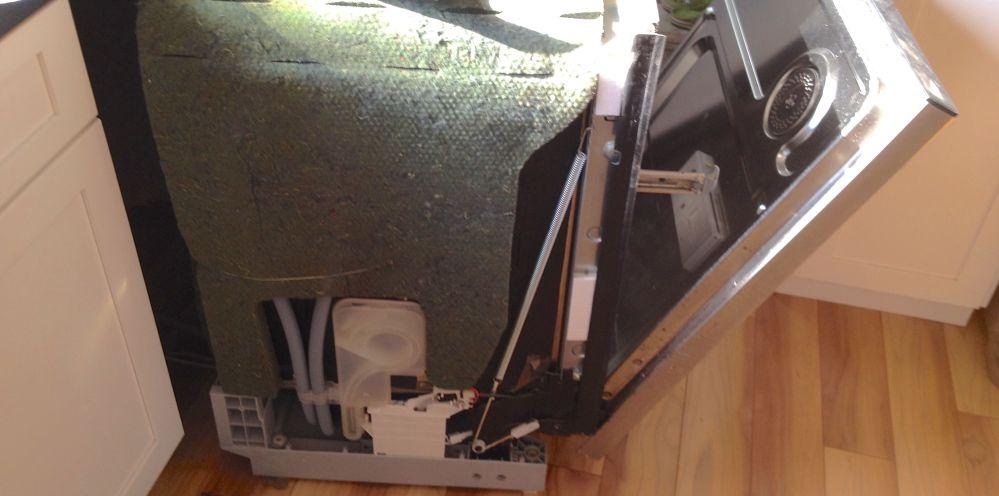 Fixing the dishwasher