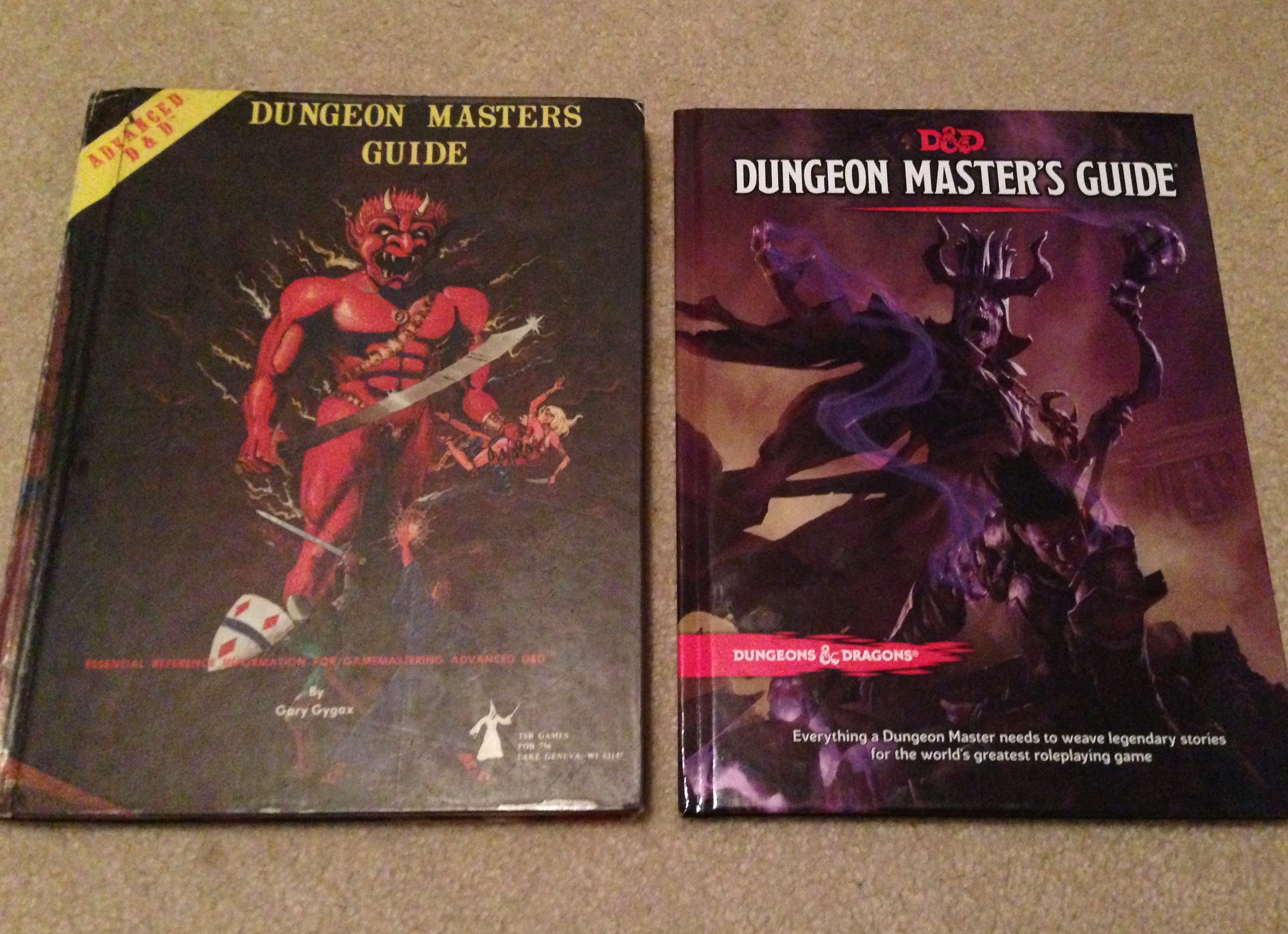 A Tale of Two Dungeon Master Guides - 1979 AD&D and 2014 D&D