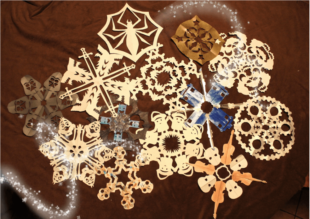 There's a blizzard of geeky snowflake templates out there for free download, from Game of Thrones to Batman to Doctor Who. Image by Lisa Kay Tate.
