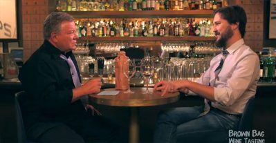 Bill Shatner and Wil Wheaton Geek Out on 'Brown Bag Wine Tasting'