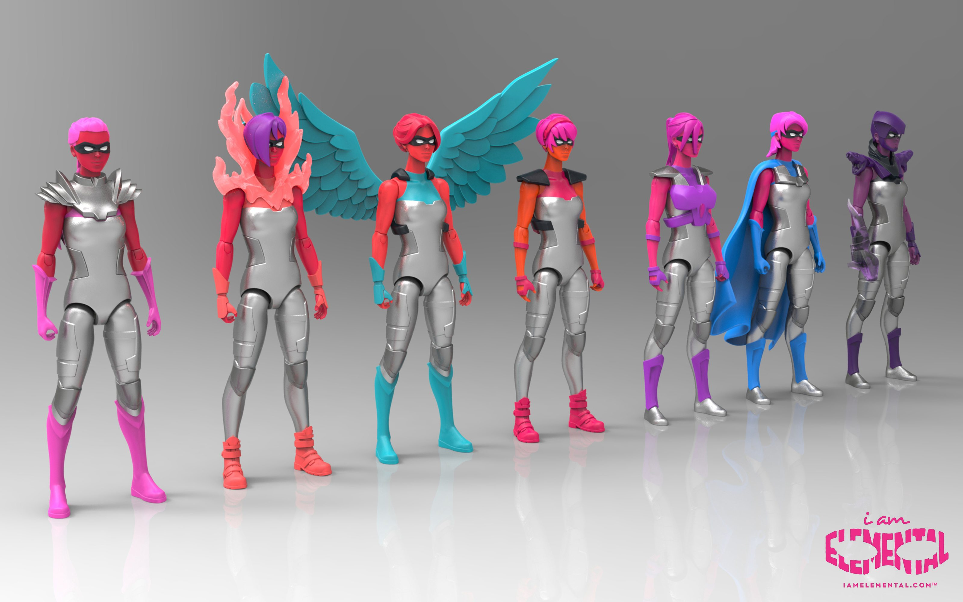 Toy Figures For Boys : Iamelemental female action figures for boys and girls