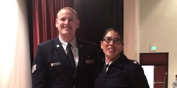 Getting to meet Staff Sergeant Spencer Stone has been a highlight of my career. Image credit: Patricia Vollmer.
