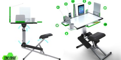 Kickstarter Alert: The Edge Collapsible, Ergonomic Desk