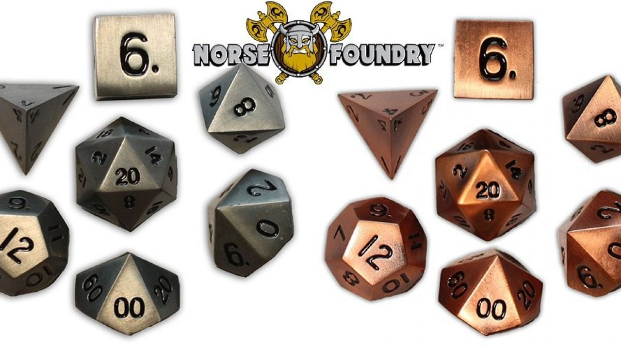 Exotic Meets Affordable Norse Foundry Metal Dice Geekdad Norse foundry seeks to enhance your gaming experience & provide quality. norse foundry metal dice