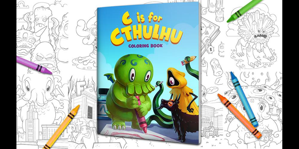 Kickstarter Alert C Is For Cthulhu Coloring Book