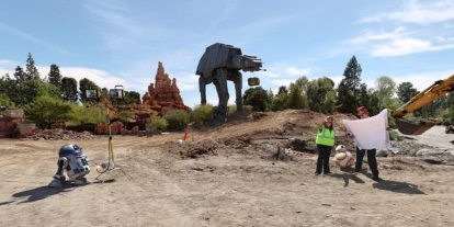 The First Order is On the Job at the Groundbreaking of Star Wars Land