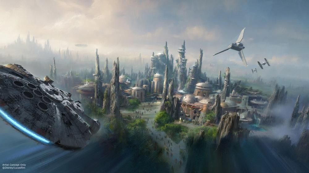 concept art of Star Wars Land