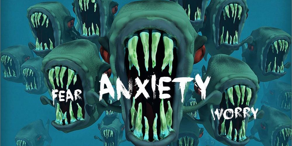 Anxiety is like a pack of piranhas.  Image CC0 Public Domain altered by Dakster Sullivan