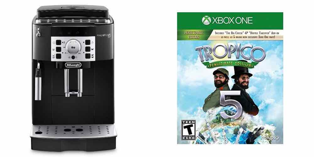 Delonghi Coffee Maker Overflow : Daily Deals on a Delonghi Superautomatic Espresso Maker and Tropico 5 for XBOX One - GeekDad