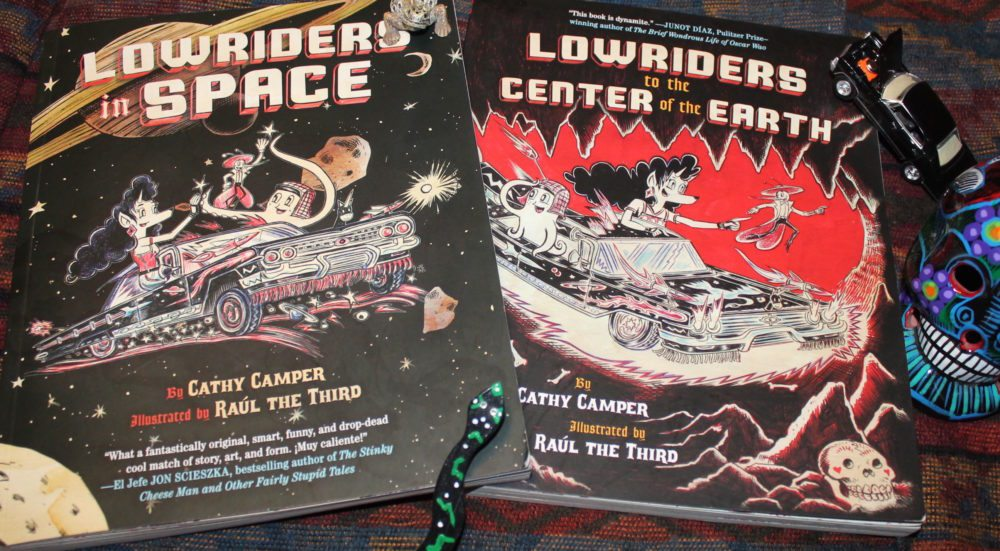 The Lowriders in Space graphic novel series for young readers shows of many of the color aspects of the border culture. Image: Lisa Kay Tate