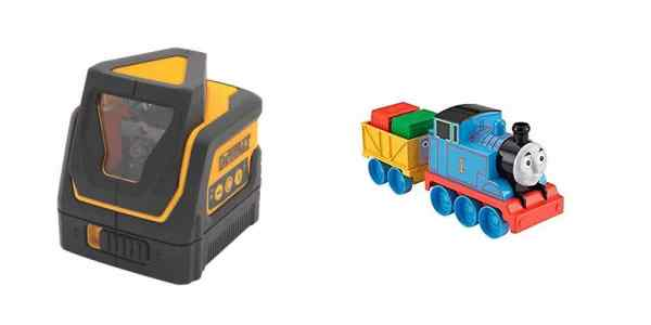 Save Big on a Laser Level, Get a Huge Selection of 'Thomas the Tank Engine' Toys