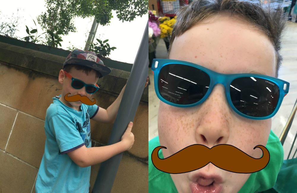7yo testing sunglasses