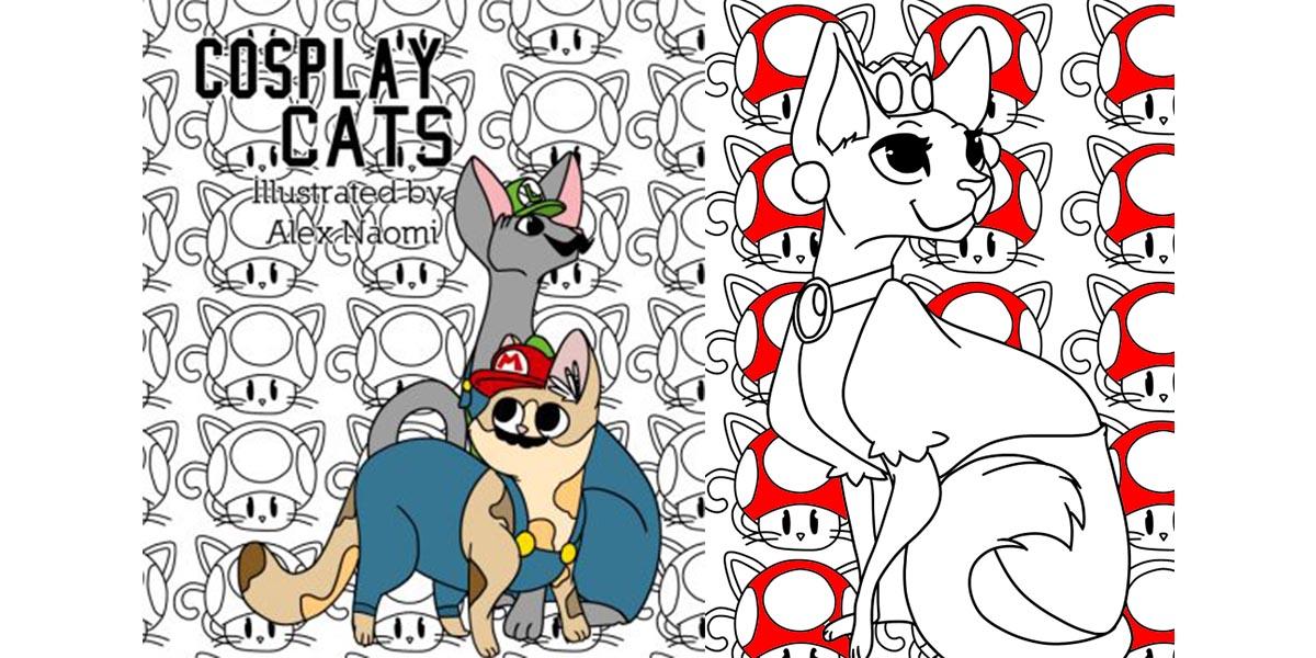 Cosplay Cats  Art by Alex Naomi