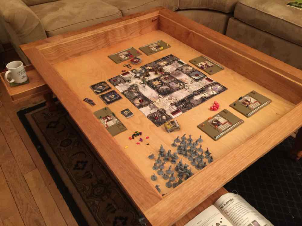 how to build a video game table
