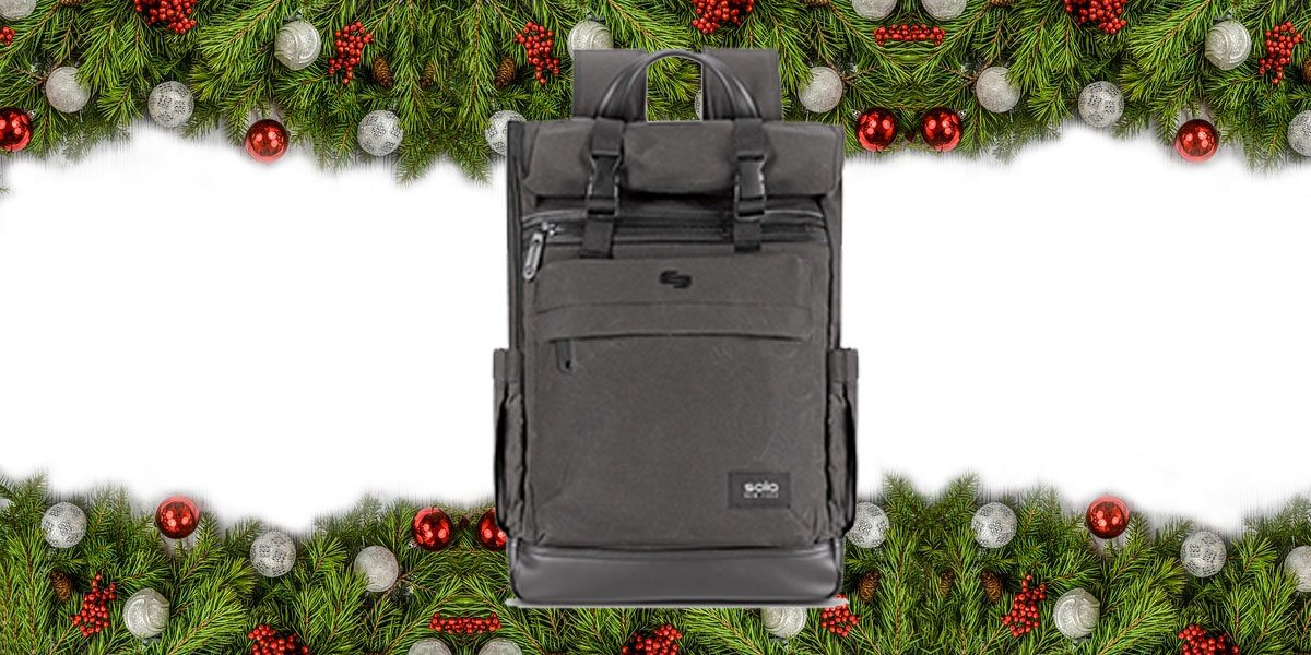 Solo Cameron Roll Top Backpack  Image: Solo